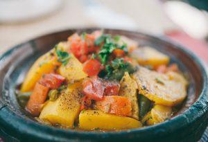 Vegetable tagine in Essaouira,Morocco.