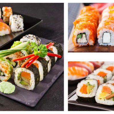 SUSHI végétal et poisson